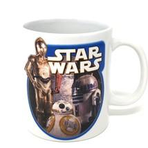Star Wars The Force Awakens R2 D2 C3PO Coffee MUG White 12 ounce Ceramic... - $16.82