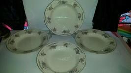 Mikasa Fine Ivory Provencal D1011 Large Rim Soup Bowls (4) Floral Gold Trim - $54.99