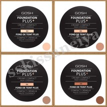 GOSH FOUNDATION PLUS + CREAMY COMPACT HIGH COVERAGE 9g Different Shades - $18.59