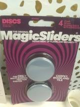 Magic Sliders 4 pack  2 In. Discs Self Adhesive Furniture Glide (SEALED)STORE image 2