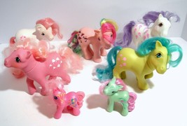 My Little Pony Vintage Lot Parasol Lickety Split Scoops Sundance Tootsie... - $27.95