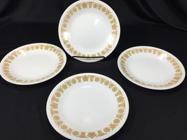 """(4) Corelle Butterfly Gold 6 3/4"""" Bread & Butter Plates Made in USA - $12.99"""