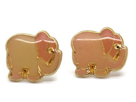 14K PINK ELEFANT GOLD EARRINGS - $33.00