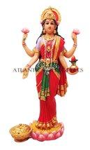 Beautiful Lakshmi Statue Deity Of Beauty Hindu Goddess Of Wealth Prosperity - $43.99