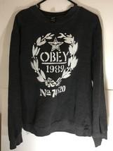 Obey 1989 No 74 520 Sweatshirt Vintage Long Sleeve Size Large Men - $32.30