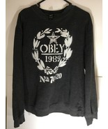 Obey 1989 No 74 520 Sweatshirt Vintage Long Sleeve Size Large Men - $32.30
