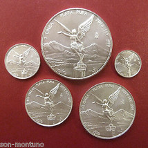 2013 SILVER LIBERTAD 5 COIN SET 1 Oz & Fractionals Half Quarter 1/10 1/2... - $119.00