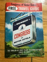 Vintage CONGRESS OF MOTOR HOTELS TRAVEL GUIDE 1960 - $2.97