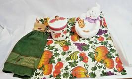 Hallmark Autumn Candle Holder Jar w Leaves Acorn Ghost Candy dish bowl Halloween - $19.59
