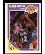 Magic Johnson Signed Autographed 1989 Fleer Basketball Card - Los Angele... - $19.99