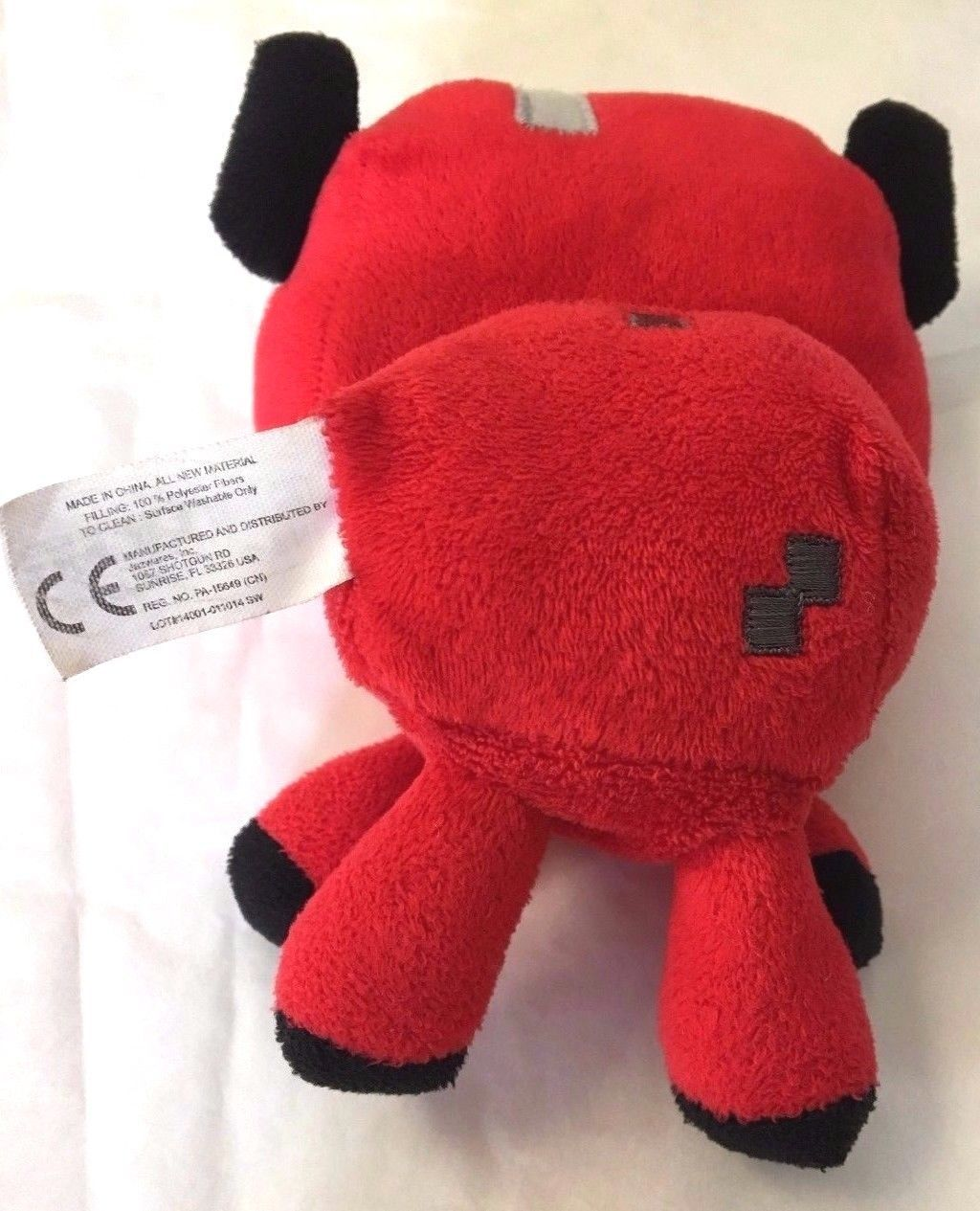 Minecraft Baby Mooshroom Plush Minecraft Animal Series 5 Inch Red Cow by Mojang