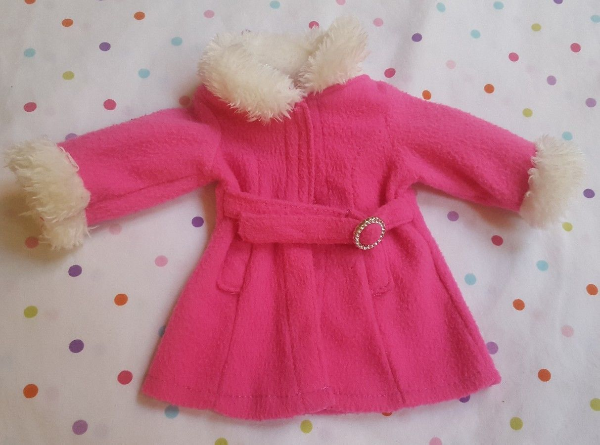 "Primary image for 9"" Pink Coat for American Doll(?) Marked Funrise Toy Corp., pre-owned"