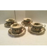 """Set Of 4 Johnson Brothers The Friendly Village Coffee Cups and Saucers """"... - $24.00"""