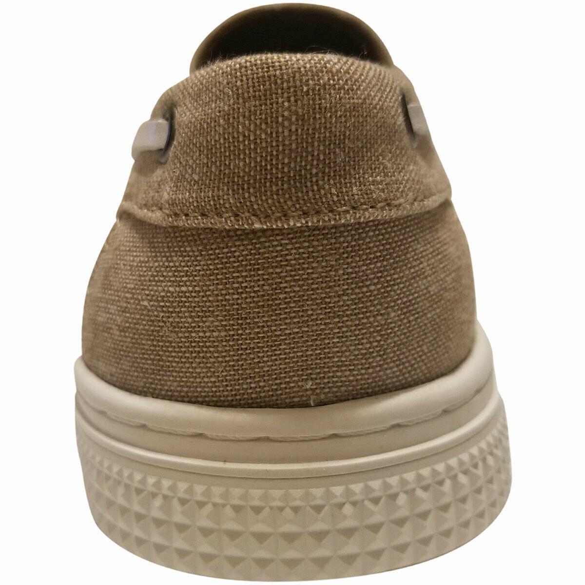 Kenneth Cole Reaction Men's Ankir Canvas Slip-on Boat Shoes Beige Sand 9.5 M ... image 3