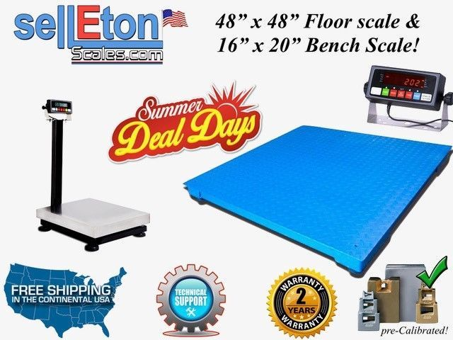 New 48 X 48 Pallet Digital Floor Scale Amp 16 Quot X 20 Bench