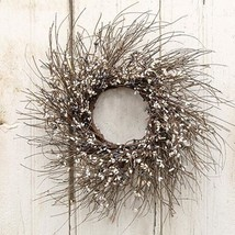 "NEW Farmhouse Mix Pip Berry Twig Wreath 16"" Primitive Wall Decor - $29.95"