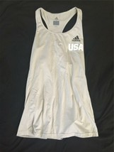 Adidas USA Women Ladies Tennis Tank Top Gray Climalite Small Running Yoga B image 1