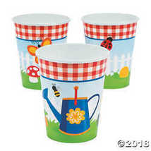 Garden Birthday Party Cups - $2.49