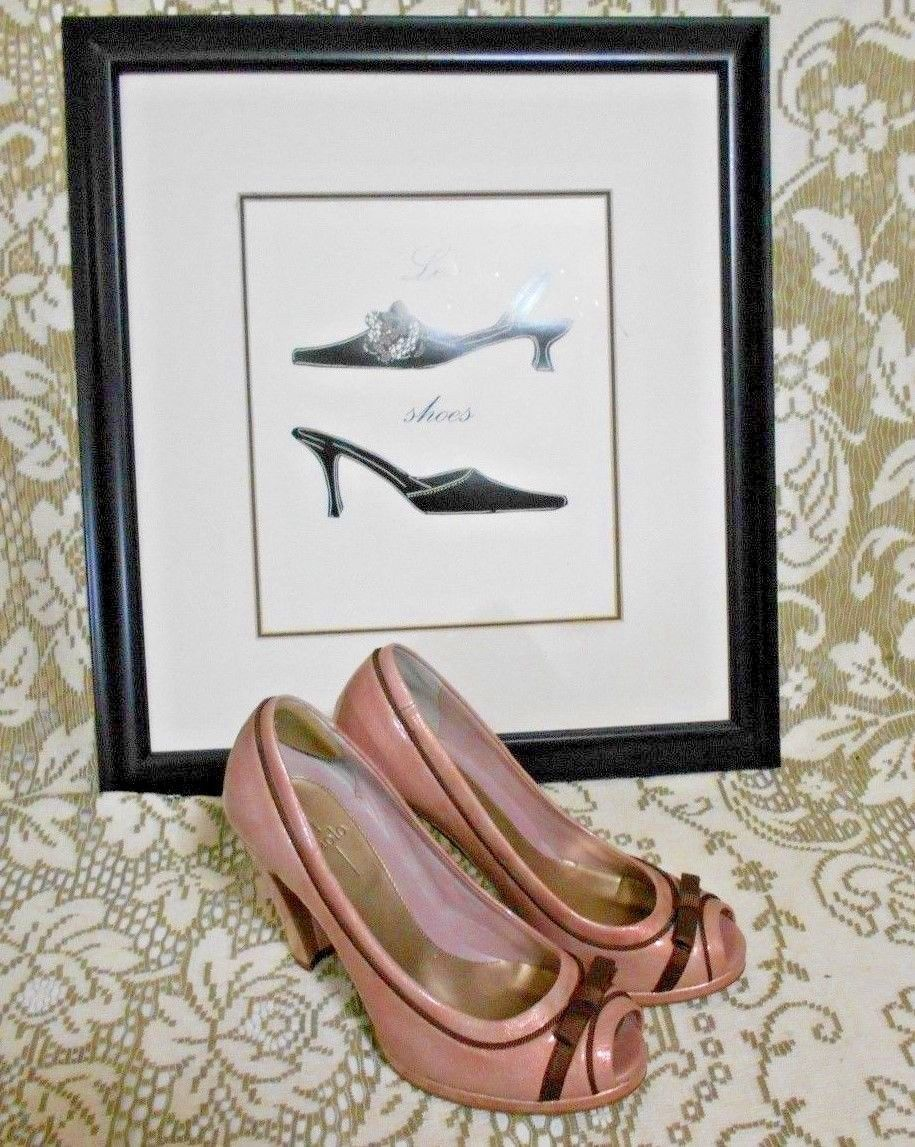 44cccae2ea4 Linea Paolo Size 7 1/2 Pink Beige Patent and 50 similar items