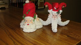 Authentic Christmas Santa Claus Candleholder Candle Holder - 1 Pair - $15.09