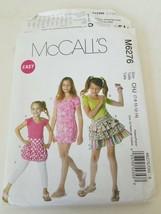McCall's Pattern M6276 Girls Tops Dress Skirt Leggings - $5.22