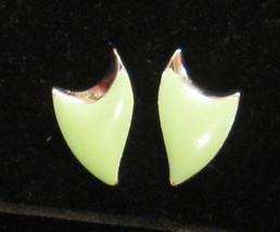 MCM Futurist Modern Pierced Earrings DELTA SHIELD Not Signed VTG 1970s - $19.75