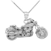 Sterling Silver Motorcycle Bike Pendant Necklace - €18,02 EUR+