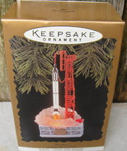 1996 Freedom 7 Hallmark Keepsake NASA Ornament Magic Series Flashing Light & Sou - $22.00