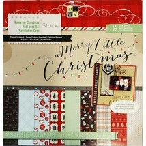 DCWV Home for Christmas 12x12 Cardstock Stack, 48 Sheets, Matte and Glitter