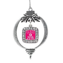 Inspired Silver Hot Pink Class of 2016 Classic Holiday Christmas Tree Or... - $14.69