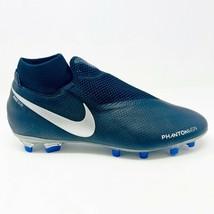 Nike Phantom Vision Pro Black Blue Mens Size 10 Soccer Cleats A03266 004 - $79.95