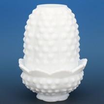 "Vintage Fenton Milk Glass Honail 4 1/2"" Fairy Light Votive Candle Holder"