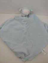 Angel Dear plush blue lamb sheep Baby Security Blanket Lovey knotted toy - $6.92