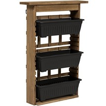 Best Choice Products 3-Tier Outdoor Rustic Wooden Garden Vertical Wall M... - $60.08