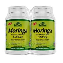 2 Pack Moringa Oleifera Leaf Extract Supplement By Alfa Vitamins - 100% Natural - $37.62