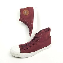 Converse Chuck Taylor All Star Maroon Red High Top With Brown Details Si... - $33.16