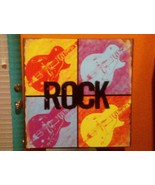 """Rock"" Guitars METAL DECORATIVE SIGN DENNIS EAST INTERNA 11.25"" Sq # 31189 - $9.89"