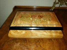 VTG Italian Wood Works Musical Jewelry Box Woodworks, Torina A Surrlento... - $28.49