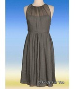 J Crew Women's Petite Megan Dress In Silk Chiffon Sleeveless Graphite P2... - $41.39