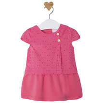 Mayoral Baby Girls Cap Sleeve Eyelet Twofer Dress