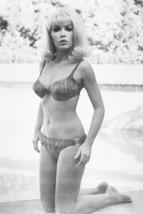 Stella Stevens barefoot in bikini by pool 18x24 Poster - $23.99