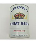 Vintage Old Crown Wheat Germ Unopened Tin 14 OZ Portland Oregon - $96.00
