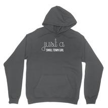 Just A Small Town Girl Shirt Cute Song Lyrics Unisex Charcoal Hoodie Sweatshirt - $24.95+
