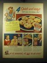 1949 Borden's Ad - Eagle Brand Condensed Milk, Hemo, None Such Mince Meat  - $14.99