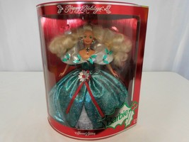 Barbie 1995 Happy Holidays Special Edition Doll Vintage Green Dress - $26.74