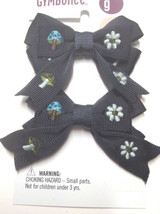 Gymboree Hide And Seek Line Blue Barrette/Clip NWT Mushroom Snap Flower Check It - $19.95