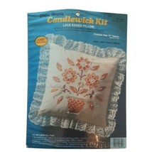 Vintage 1983 Creative Moments Candlewick Kit Lace Edge Pillow Cover New ... - $18.69