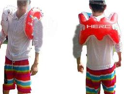 Herc Adult Shoulder Swim Ring Tube for Men Women (Red) image 2