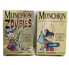 Munchkin 1408 & M. Zombies 1481 Card Game  2 for price of 1 Steven Jacks... - $24.24