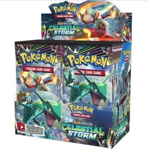 Pokemon Celestial Storm 18 Booster Pack Lot 1/2 Booster Box Sun & Moon TCG Cards